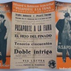 Cine: PASAPORTE A LA FAMA. EDWARD G. ROBINSON, JEAN ARTHUR. Lote 87584100