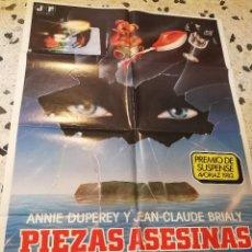 Cine: ANTIGUO CARTEL CINE-PIEZAS ASESINAS-1984. ORIGINAL. 100X70CM.. Lote 87589776