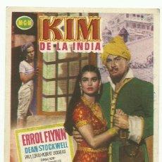 Cine: FOLLETO DE MANO ORIGINAL CINE - KIM DE LA INDIA - PUBLICIDAD EN REVERSO. Lote 87590340
