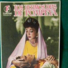 Cine: FOLLETO DE MANO ORIGINAL CINE - LOS ULTIMOS DIAS DE POMPEYA - PUBLICIDAD EN EL REVERSO. Lote 87590692