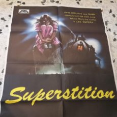Cine: ANTIGUO CARTEL TERROR CINE-SUPERSTITION-1983.ORIGINAL. 100X70CM.. Lote 87592252