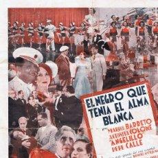 Cine: EL NEGRO QUE TENÍA EL ALMA BLANCA PROGRAMA GRANDE . Lote 87718104