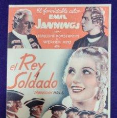 Cine: PROGRAMA DE CINE ORIGINAL. EL REY SOLDADO. RARO Y ESCASO. LOS ARTISTAS ASOCIADOS. . Lote 87803040