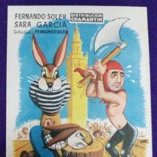 Cine: PROGRAMA DE CINE ORIGINAL. EL VERDUGO DE SEVILLA. RARO Y ESCASO. ILUSTRADO POR JANO. CHAMARTIN. Lote 87803940