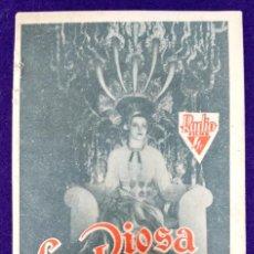 Cine: PROGRAMA DE CINE ORIGINAL. LA DIOSA DEL FUEGO. RARO Y ESCASO. SALON ROMEA MALIAÑO. CANTABRIA.. Lote 87813120