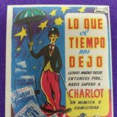 Cine: PROGRAMA DE CINE ORIGINAL. LO QUE EL TIEMPO NOS DEJO.RARO ESCASO.ARAJOL.CHARLOT.IDEAL CINEMA VITORIA. Lote 87826048