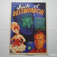 Cine: PROGRAMA JACK EL DESTRIPADOR--MERLE OBERON. Lote 88089048