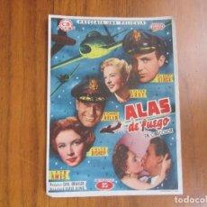 Cine: PROGRAMA DE CINE FOLLETO DE MANO ALAS DE FUEGO DEL1955 CON PUBLICIDAD VER FOTOS. Lote 88117572
