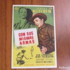 Cine: PROGRAMA DE CINE FOLLETO DE MANO CON SUS MISMAS ARMAS DEL1957 CON PUBLICIDAD VER FOTOS. Lote 88117724