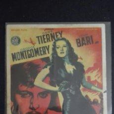 Cine: INFIERNO EN LA TIERRA CON GEORGE MONTGOMERY LILIN BARI CENTURY FOX. Lote 88297076