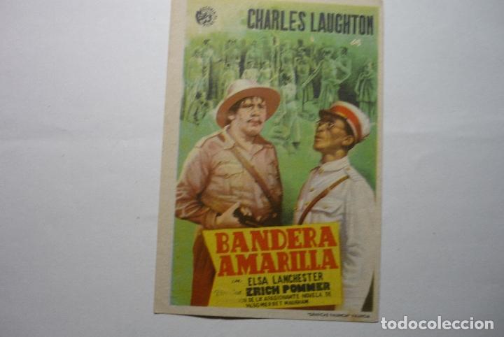 PROGRAMA BANDERA AMARILLA-CHARLES LAUGHTON - PUBLICIDAD PRINCIPAL.- TERMENS LLEIDA (Cine - Folletos de Mano - Drama)