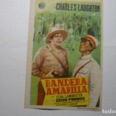 Cine: PROGRAMA BANDERA AMARILLA-CHARLES LAUGHTON - PUBLICIDAD PRINCIPAL.- TERMENS LLEIDA. Lote 88578112
