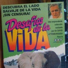 Cine: DESAFIOS DE LA VIDA, POR DAVID ATTENBOROUGH. Lote 88666288
