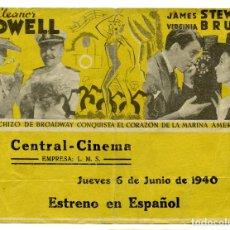 Cine: NACIDA PARA LA DANZA - CENTRAL CINEMA (ALICANTE, 1940). Lote 88797584