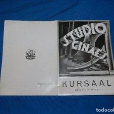 Cine: PROGRAMA STUDIO CINAES 23 OCTUBRE 1931 - PELICULA ARTEM Y LE MILLION, MAXIMO GORKI ( VANGUARDIAS ). Lote 89262624