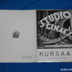 Cine: STUDIO CINAES SHORTS ,DOS PRODUCCIONES 1896 GEORGES MELIES, LA TIERRA ,20 NOVIEMBRE 1931 VANGUARDIAS. Lote 89262852