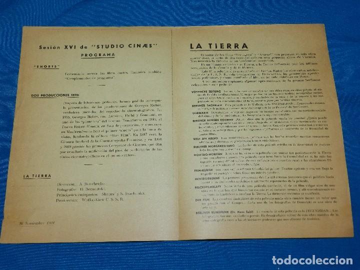 Cine: STUDIO CINAES SHORTS ,DOS PRODUCCIONES 1896 GEORGES MELIES, LA TIERRA ,20 NOVIEMBRE 1931 VANGUARDIAS - Foto 2 - 89262852