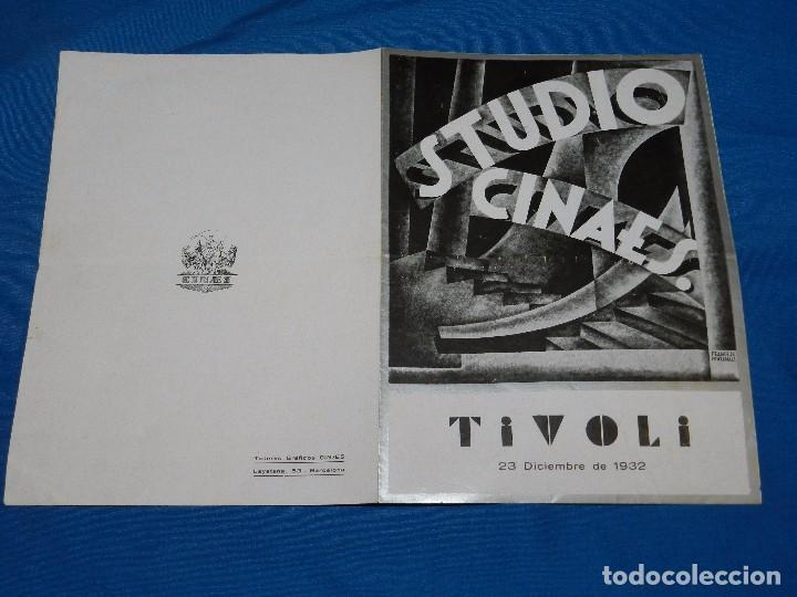 PROGRAMA STUDIO CINAES DICIEMBRE 1932 - LE SANG D'UN POETE JEAN COCTEAU , LLUM BLAVA ,VANGUARDIAS (Cine - Folletos de Mano - Ciencia Ficción)