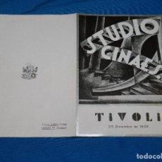 Cine: PROGRAMA STUDIO CINAES DICIEMBRE 1932 - LE SANG D'UN POETE JEAN COCTEAU , LLUM BLAVA ,VANGUARDIAS. Lote 89263076