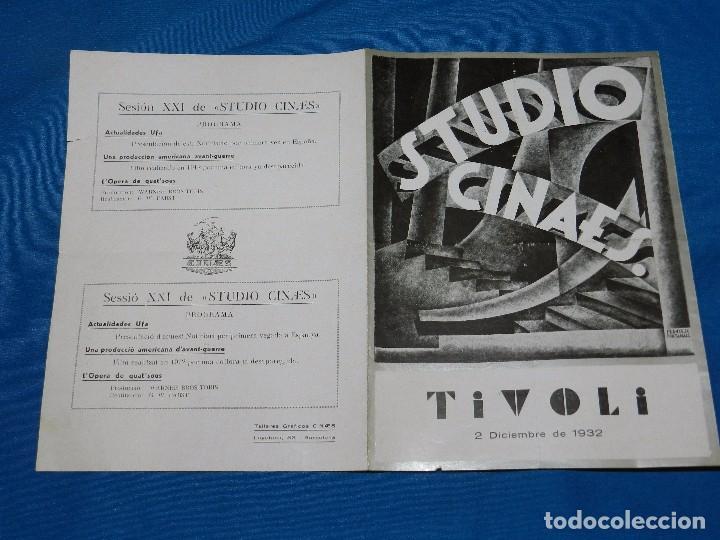 PROGRAMA STUDIO CINAES DICIEMBRE 1932 - L'OPERA DE QUNT'SOUS ( VANGUARDIAS ) (Cine - Folletos de Mano - Ciencia Ficción)