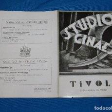 Cine: PROGRAMA STUDIO CINAES DICIEMBRE 1932 - L'OPERA DE QUNT'SOUS ( VANGUARDIAS ). Lote 89263236