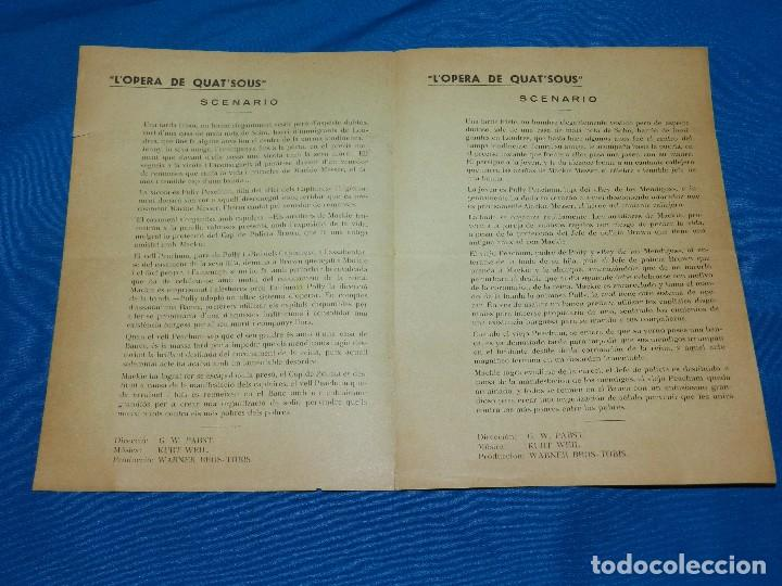 Cine: PROGRAMA STUDIO CINAES DICIEMBRE 1932 - L'OPERA DE QUNT'SOUS ( VANGUARDIAS ) - Foto 2 - 89263236