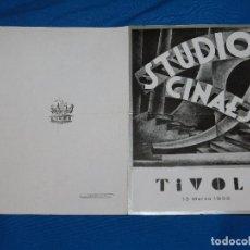 Cine: PROGRAMA STUDIO CINAES MARZO 1933 - LA ROMPIENTE , PONT D ( VANGUARDIAS'ACIER , RENE CLAIR ). Lote 89263464