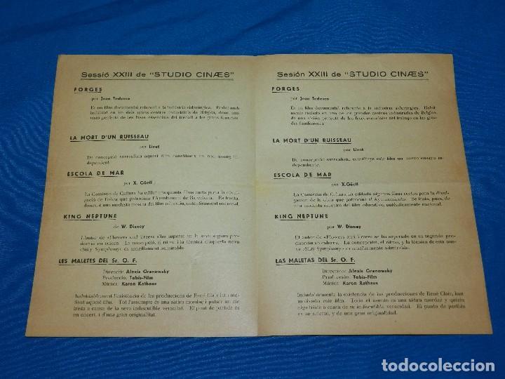 Cine: PROGRAMA STUDIO CINAES FEBRERO 1933 - FORGES, LE MORT DUN RUISSEAU, ESCOLA DE MAR ( VANGUARDIAS ) - Foto 2 - 89263632