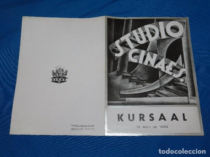 PROGRAMA STUDIO CINAES ABRIL 1932 - STREET SCENE KING VIDOR, LA LINEA GENERAL VANGUARDIAS (Cine - Folletos de Mano - Ciencia Ficción)
