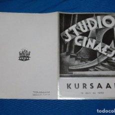 Cine: PROGRAMA STUDIO CINAES ABRIL 1932 - STREET SCENE KING VIDOR, LA LINEA GENERAL VANGUARDIAS. Lote 89263920