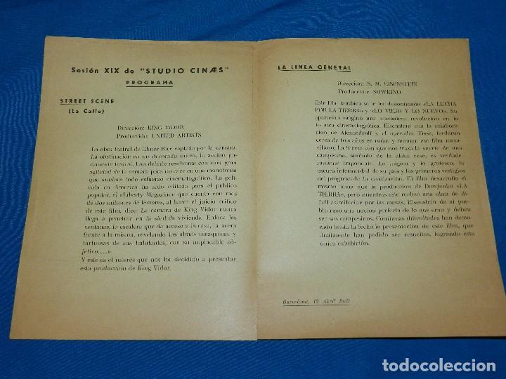 Cine: PROGRAMA STUDIO CINAES ABRIL 1932 - STREET SCENE KING VIDOR, LA LINEA GENERAL VANGUARDIAS - Foto 2 - 89263920