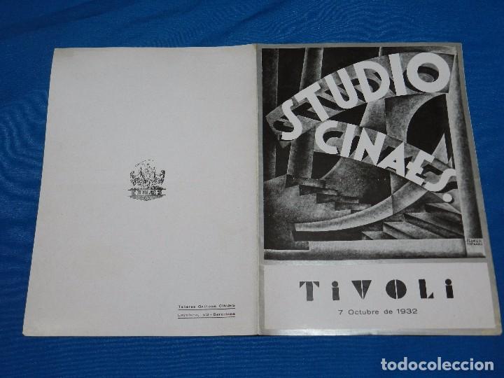 PROGRAMA STUDIO CINAES OCTUBRE 1932 - L'ATLANTIDE NERO FILM-BERLIN VANGUADIAS (Cine - Folletos de Mano - Ciencia Ficción)