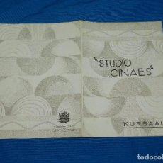 Cine: PROGRAMA STUDIO CINAES ABRIL 1931 LA ESADRILLA DEL AMANECER ( VANGUADIAS ). Lote 89264488