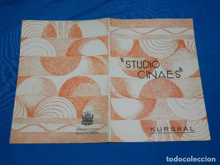 PROGRAMA STUDIO CINAES FEBRERO 1931 BORDERLINE, UNA PRODUCCION 1915 DE CH CHAPLIN ( VANGUARDIAS ) (Cine - Folletos de Mano - Ciencia Ficción)