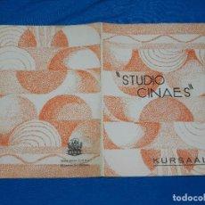 Cine: PROGRAMA STUDIO CINAES FEBRERO 1931 BORDERLINE, UNA PRODUCCION 1915 DE CH CHAPLIN ( VANGUARDIAS ). Lote 89264624