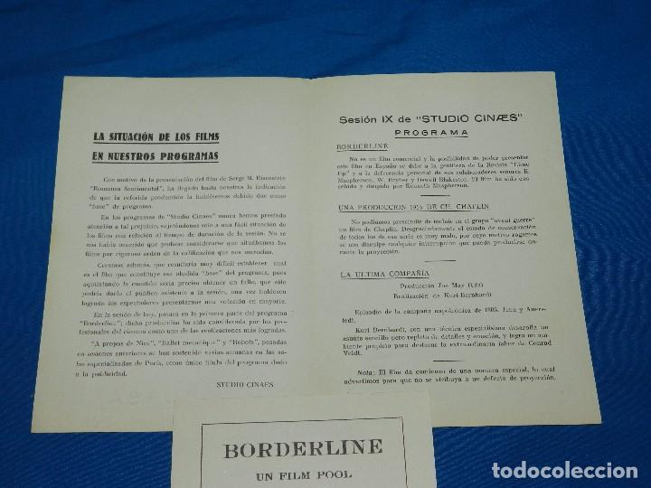 Cine: PROGRAMA STUDIO CINAES FEBRERO 1931 BORDERLINE, UNA PRODUCCION 1915 DE CH CHAPLIN ( VANGUARDIAS ) - Foto 2 - 89264624