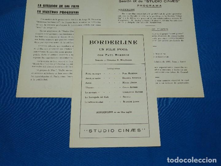 Cine: PROGRAMA STUDIO CINAES FEBRERO 1931 BORDERLINE, UNA PRODUCCION 1915 DE CH CHAPLIN ( VANGUARDIAS ) - Foto 3 - 89264624