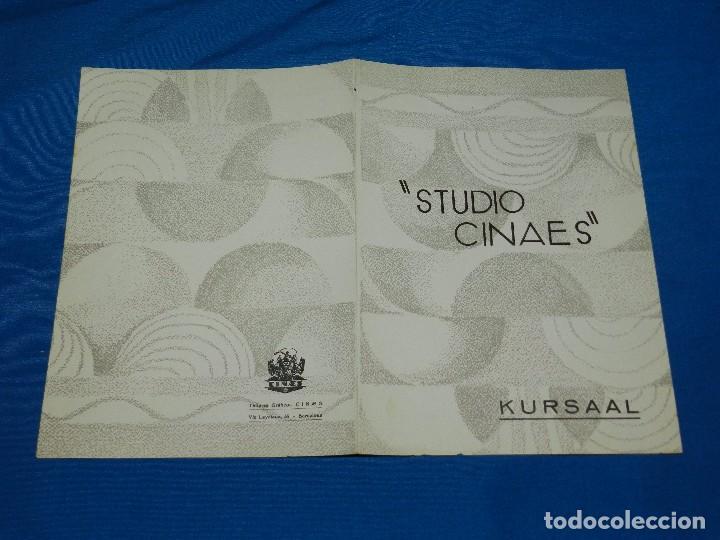 PROGRAMA STUDIO CINAES ABRIL 1931 LILIOM , UN COUP DE DES , EL EXPRESS AZUL ( VANGUARDIAS ) (Cine - Folletos de Mano - Ciencia Ficción)