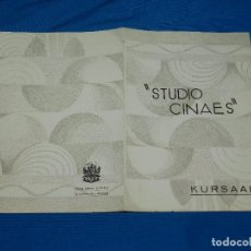 Cine: PROGRAMA STUDIO CINAES ABRIL 1931 LILIOM , UN COUP DE DES , EL EXPRESS AZUL ( VANGUARDIAS ). Lote 89264796