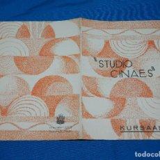 Cine: PROGRAMA STUDIO CINAES MARZO 1931 - LIGHT RHYTHMS , JEU DE CHAPEAU ( VANGUARDIAS ). Lote 89264932