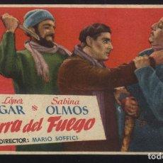 Cine: P-5291- TIERRA DEL FUEGO (PEDRO LÓPEZ LAGAR - SABINA OLMOS - MARIO SOFFICI - ALBERTO CLOSAS). Lote 89374986