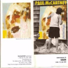 Cine: PAUL MCCARTNEY -THE BEATLES FOLLETO EXP. PINTURAS 1999. Lote 89449588