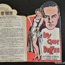 Cine: LOS QUE DANZAN - PROGRAMA FOLLETO DE CINE TROQUELADO – 1932 – ANTONIO MORENO Y MARÍA ALBA .. Lote 89545804
