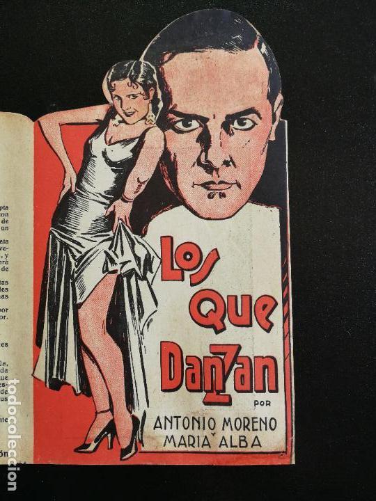 Cine: LOS QUE DANZAN - PROGRAMA FOLLETO DE CINE TROQUELADO – 1932 – ANTONIO MORENO Y MARÍA ALBA . - Foto 2 - 89545804