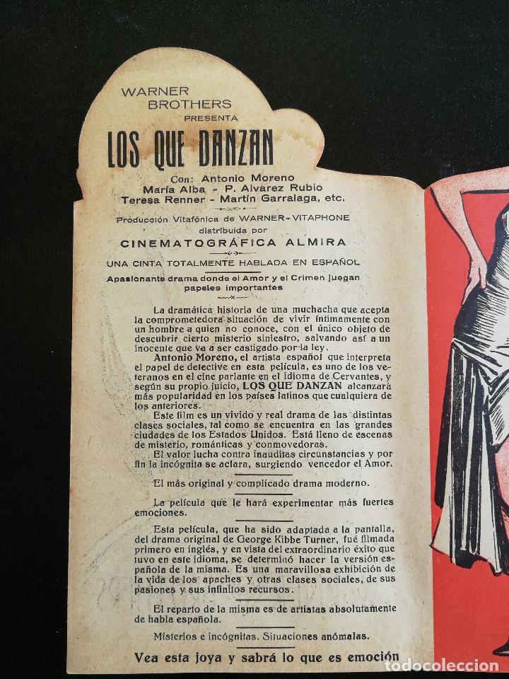 Cine: LOS QUE DANZAN - PROGRAMA FOLLETO DE CINE TROQUELADO – 1932 – ANTONIO MORENO Y MARÍA ALBA . - Foto 4 - 89545804