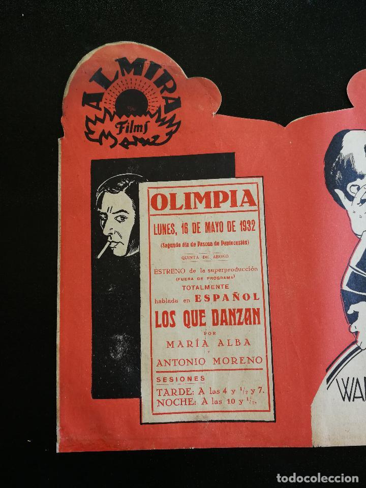 Cine: LOS QUE DANZAN - PROGRAMA FOLLETO DE CINE TROQUELADO – 1932 – ANTONIO MORENO Y MARÍA ALBA . - Foto 5 - 89545804