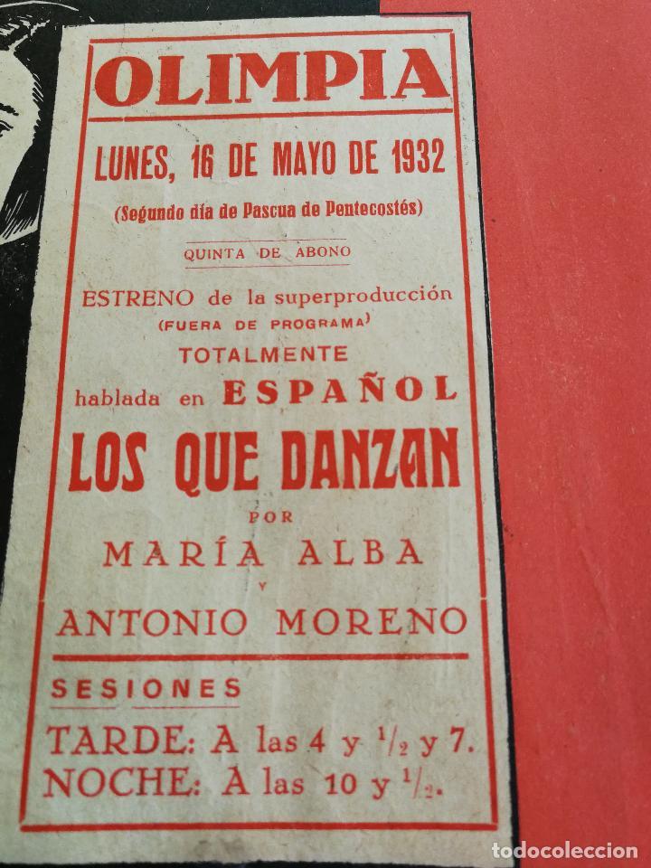 Cine: LOS QUE DANZAN - PROGRAMA FOLLETO DE CINE TROQUELADO – 1932 – ANTONIO MORENO Y MARÍA ALBA . - Foto 7 - 89545804