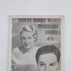 Cine: PROGRAMA DOBLE DE CINE - 39 ESCALONES - ALFRED HITCOCK - ATLANTIC FILMS, 1938. Lote 89814084