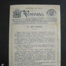 Cine: ESTRELLADOS - CINE FEMINA - PROGRAMA LIBRITO -VER FOTOS -(C-3136). Lote 90352240