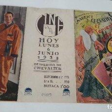 Cine: MAURICE CHEVALIER EN EL TENIENTE SEDUCTOR PROGRAMA TRIPTICO. Lote 112378278